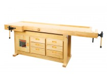 Høvlbænk/arbejdsbord med skuffer Holzmann WB210C