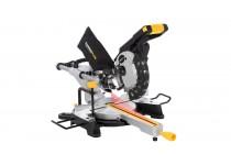 POWX07560S Gjæringssag med dobbel skråskjæring og glider 1500 watt Poweplus