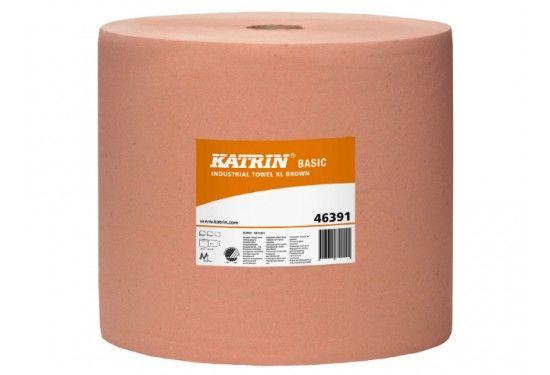 Aftørringspapir Katrin Basic XL brun 463916