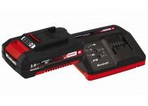 Power X-Change Startpakke med lader og batteri 18 V 2,0 Ah P-X-C EInhell